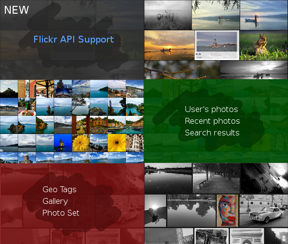 Masonry grid (gallery) with Flickr support